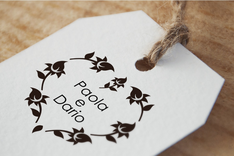 timbro personalizzato matrimonio