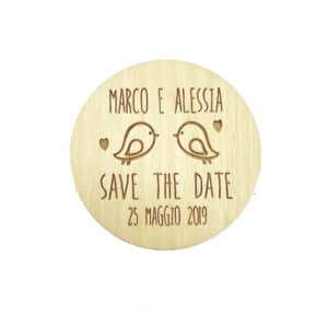 magnete tondo save the date