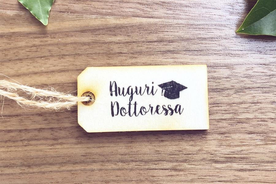 Timbro personalizzato per laurea