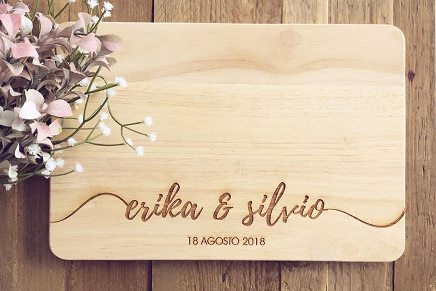 Tagliere in legno personalizzato