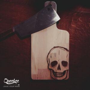tagliere halloween legno inciso idea cutting board wood laser