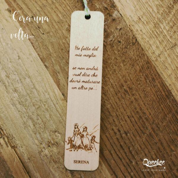 Segnalibro legno personalizzato
