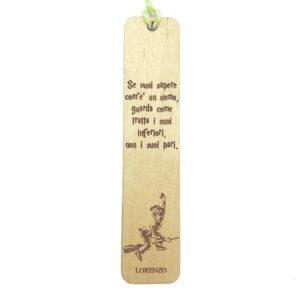 Segnalibri personalizzati in legno c'era una volta fiabe classiche grandi classici