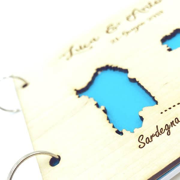Guestbook in legno personalizzato idee matrimonio libro ospiti