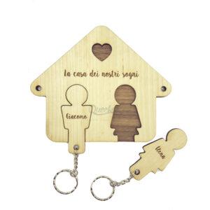 personalizzabile con nomi degli innamorati legno home sweet home