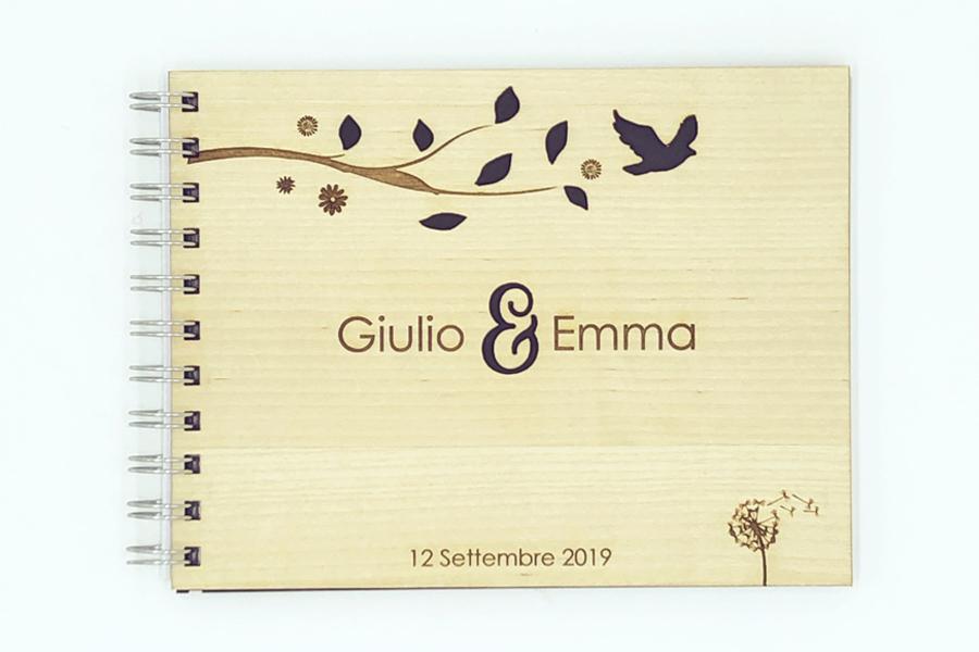 guestbook legno matrimonio