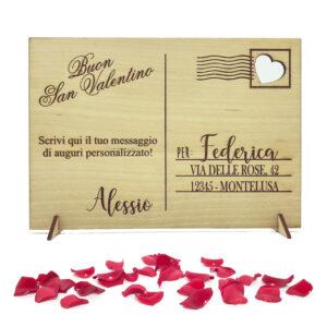 idea regalo san valentino personalizzata con nome e dedica