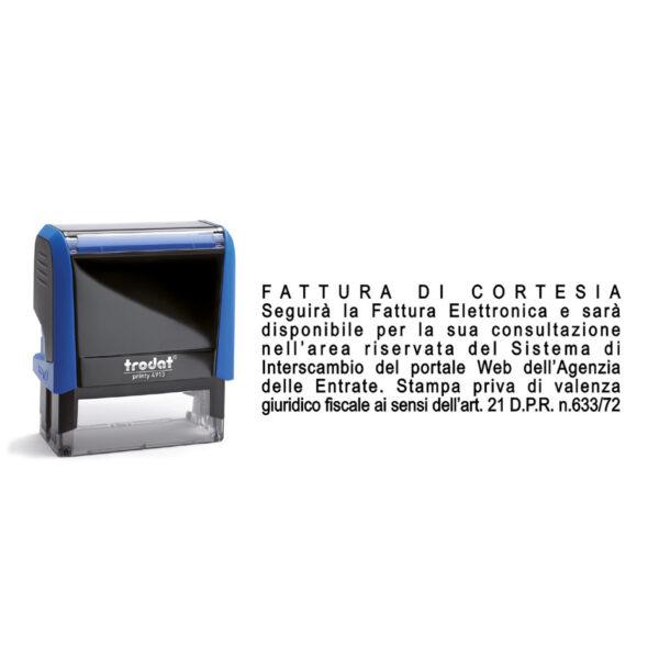 Trodat Printy 4913 - 57x21 mm - Timbro per la fattura di cortesia