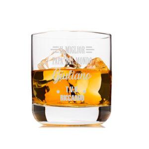 Bicchiere personalizzato con nomi, testo, loghi o immagini idea regalo