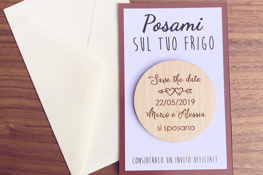 save the date personalizzato incisione in legno