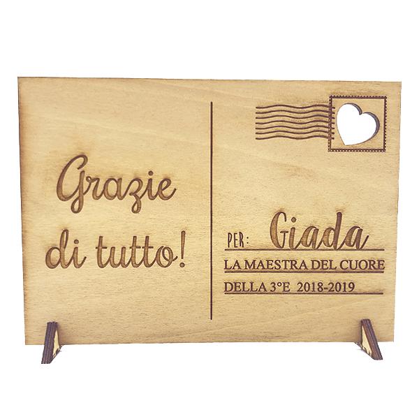 regalo personalizzato legno per maestre maestri insegnanti