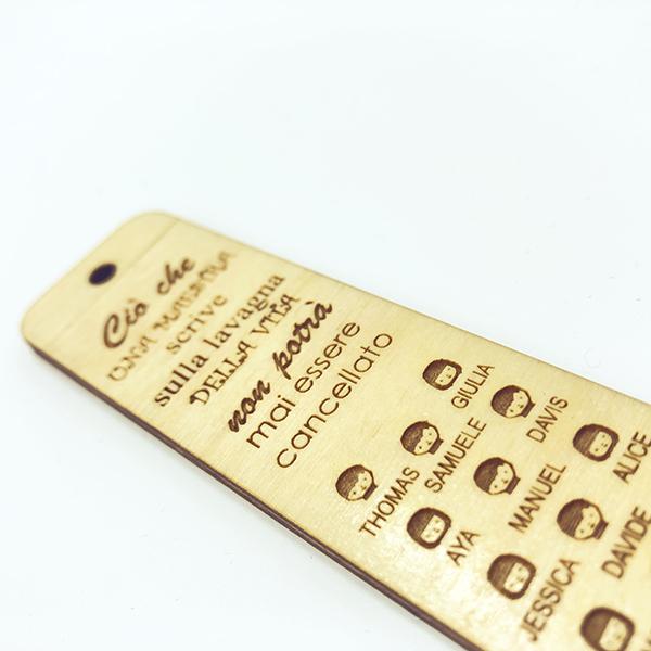 segnalibro in legno regalo per maestra