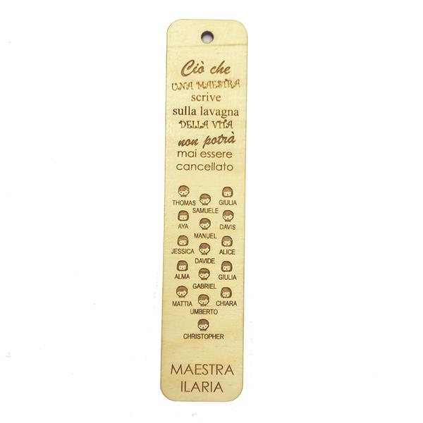segnalibri in legno con nomi alunni per maestre maestri insegnanti professori