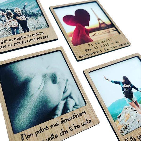 per conservare foto ricordo in un formato legno polaroid