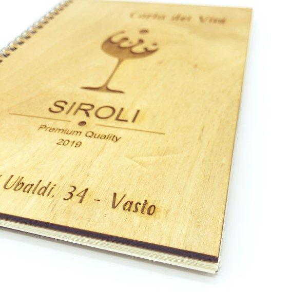 carta dei vini in legno personalizzato