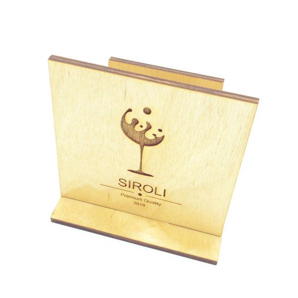 segnatavolo in legno con portatovagliolo personalizzato