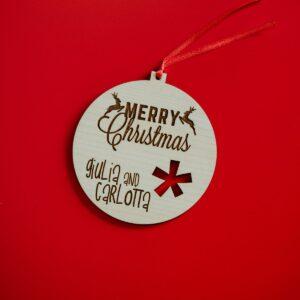 Decorazioni personalizzate Albero di Natale - Palla con fiocco