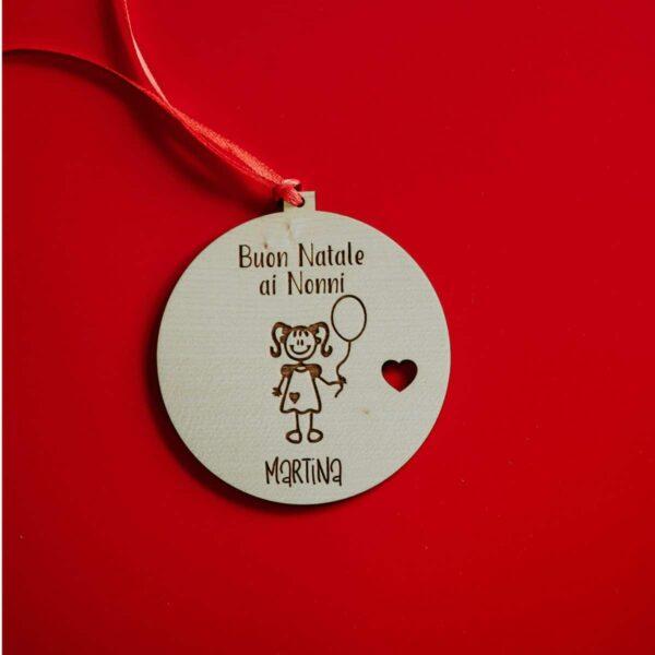 Decorazioni personalizzate Albero di Natale - Buon Natale ai Nonni