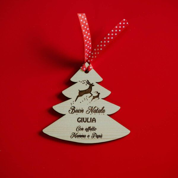 Decorazioni personalizzate Albero di Natale - Albero con Renne