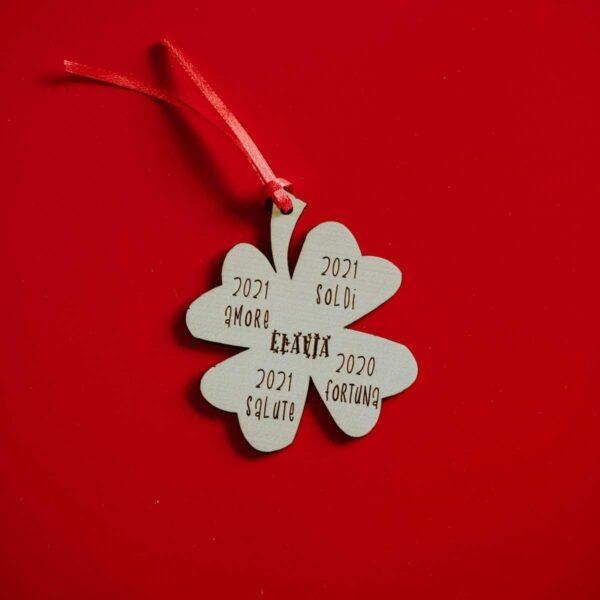 Decorazioni personalizzate Albero di Natale - Quadrifoglio