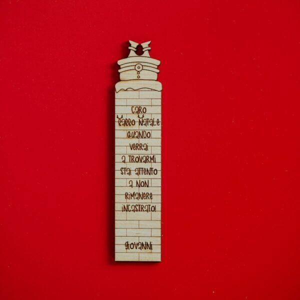Segnalibro in legno personalizzabile Natale - Caminetto