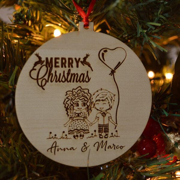 decorazione natalizia fidanzatini