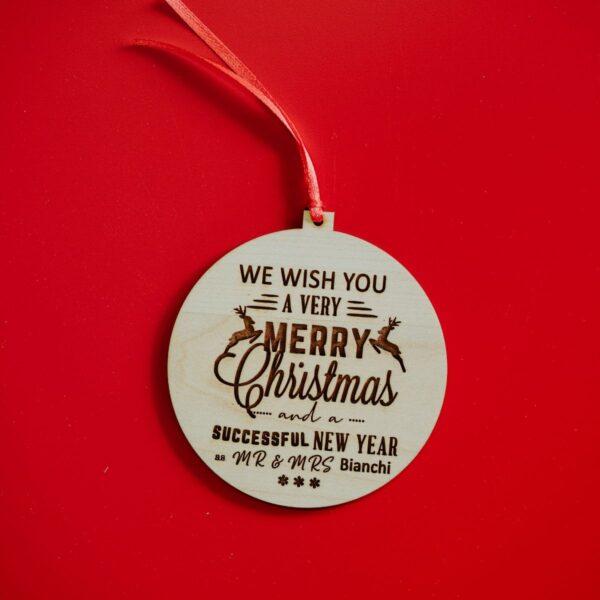 Decorazioni personalizzate Albero di Natale - Sposini