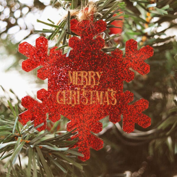 Decorazioni glitter per Albero di Natale
