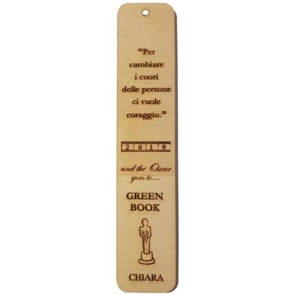 Segnalibro in legno personalizzabile - Green book