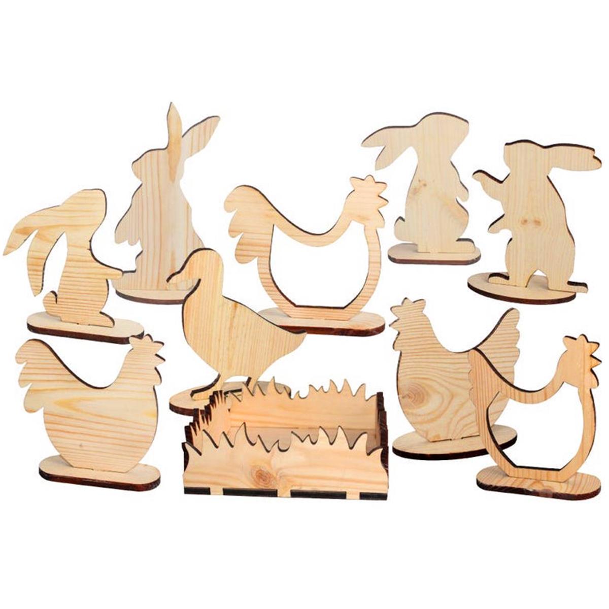 decorazioni pasquali - sagome di animaletti