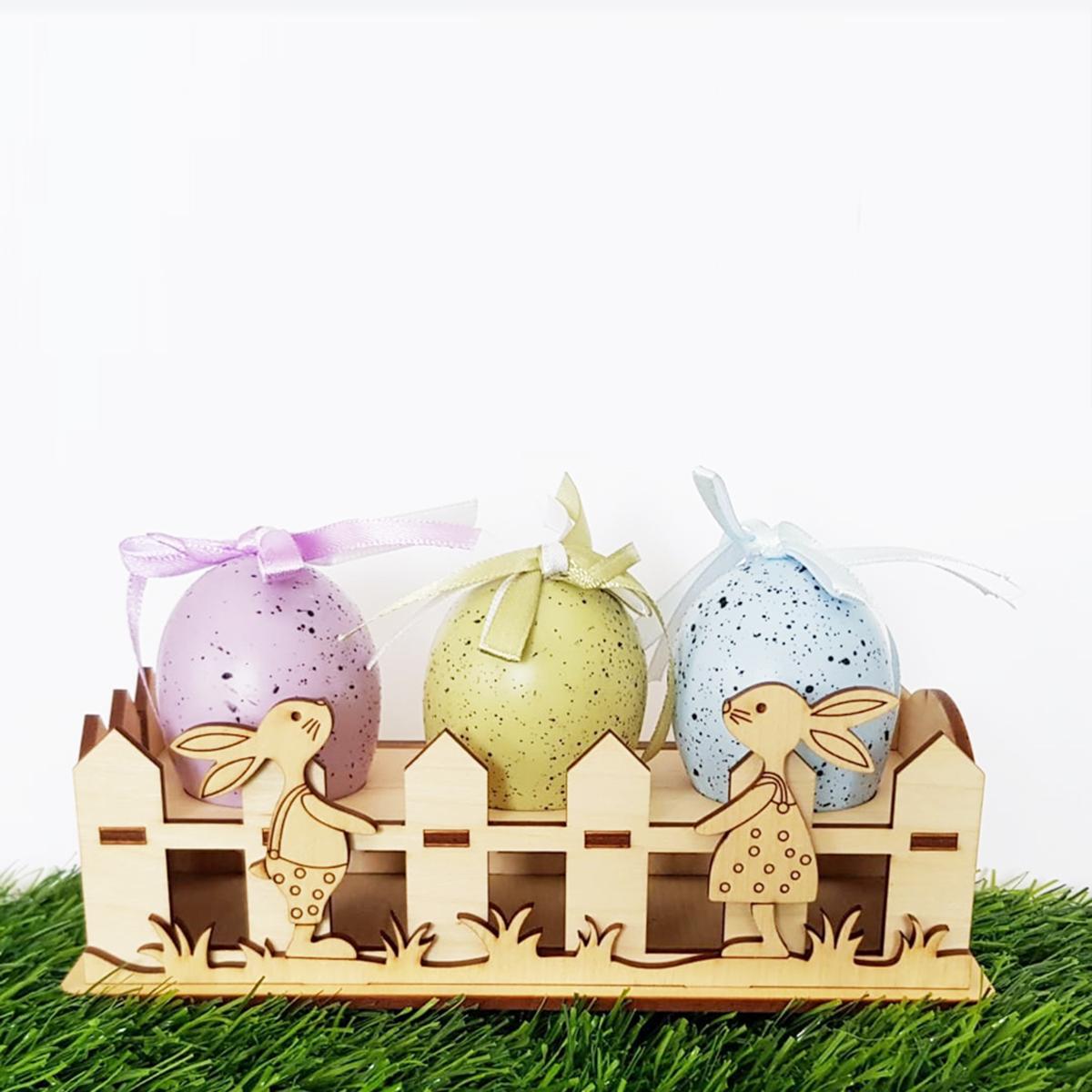 Decorazioni pasquali - il giardino dei coniglietti
