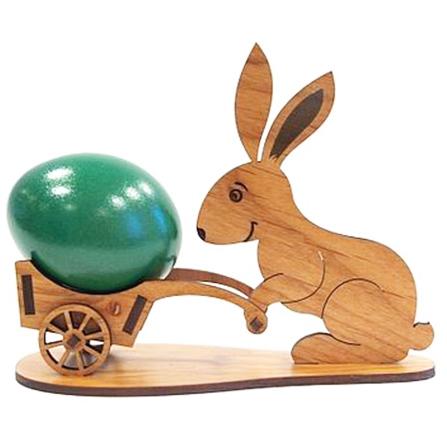 decorazione pasquale - coniglio carriola