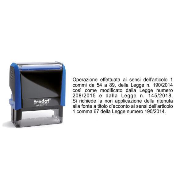 Trodat Printy 4912 - 48X18 mm - Timbro per il regime forfettario