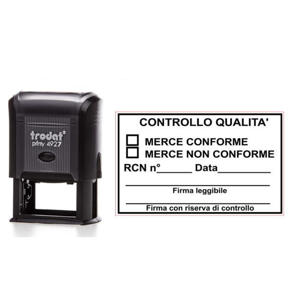 Trodat Printy 4927 - 60x40 mm- Timbro per controllo qualità
