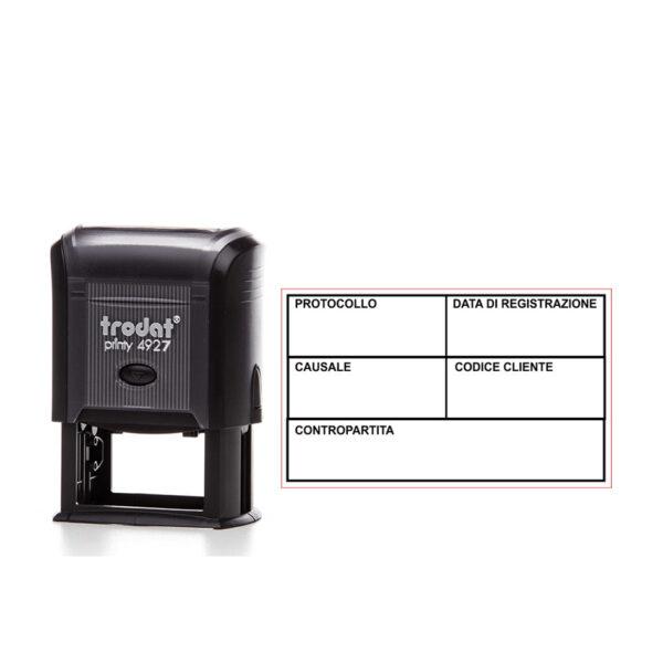Trodat Printy 4927 - 60x40 mm- Timbro per registrazioni contabili