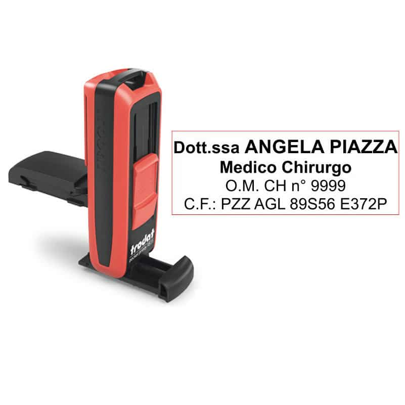 Trodat Pocket Printy 9512 - 37x14 mm - Timbro tascabile per liberi professionisti