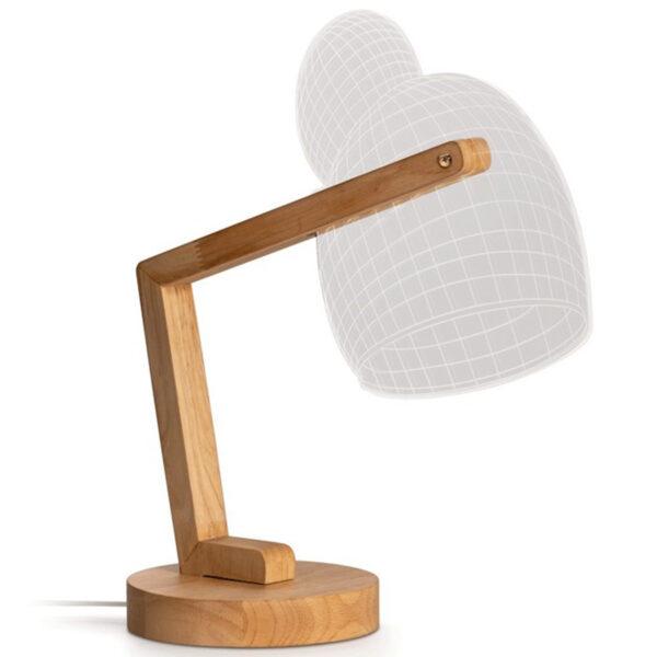lampada led in legno a campana