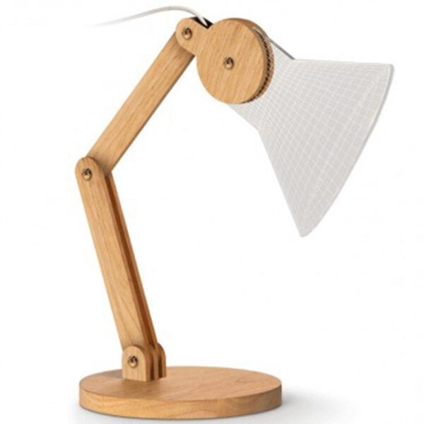 lampada led in legno cono