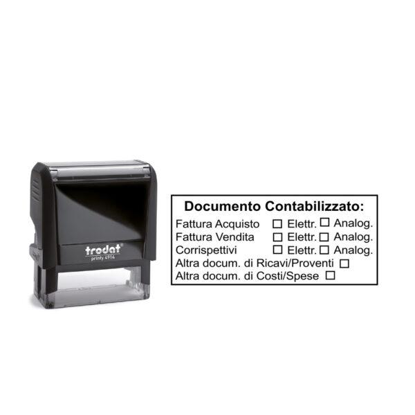 Trodat Printy 4914 - 64x26 mm- Timbro per documento contabilizzato