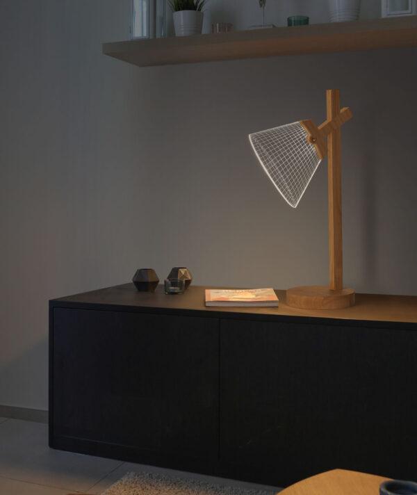 lampada led accesa