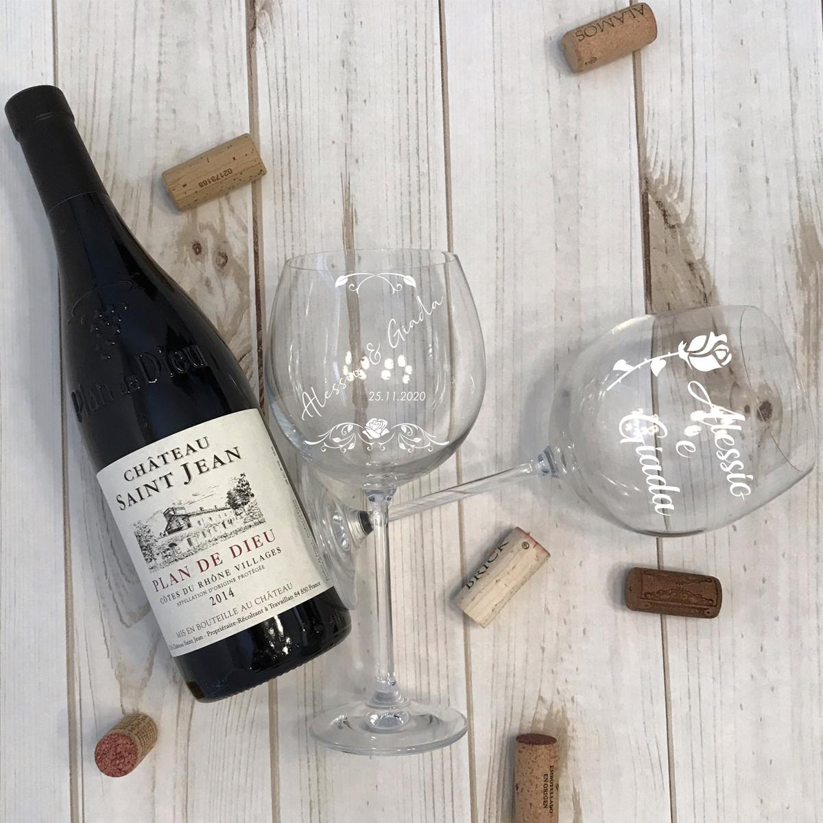 calice di vino personalizzato