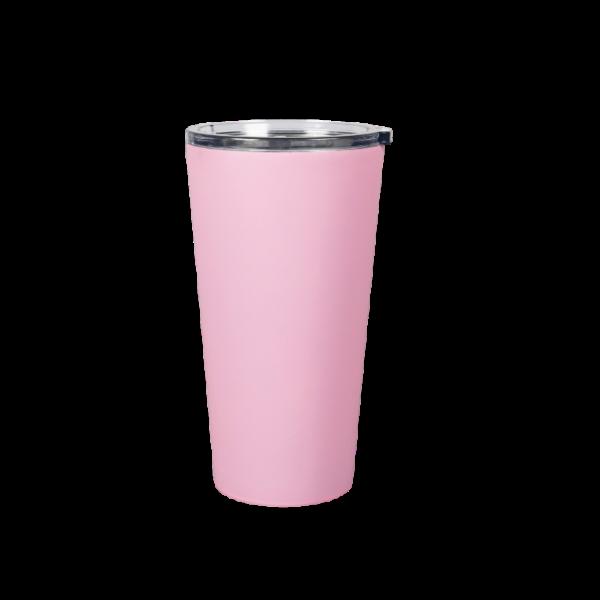 Bicchiere in acciaio inox personalizzato rosa