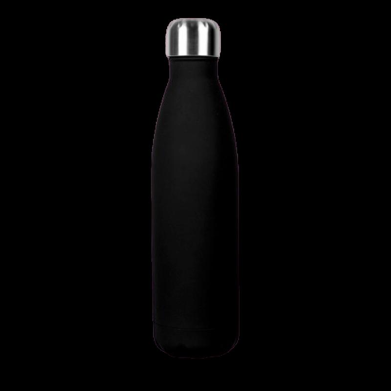 Borraccia in acciaio inox personalizzabile - Nero
