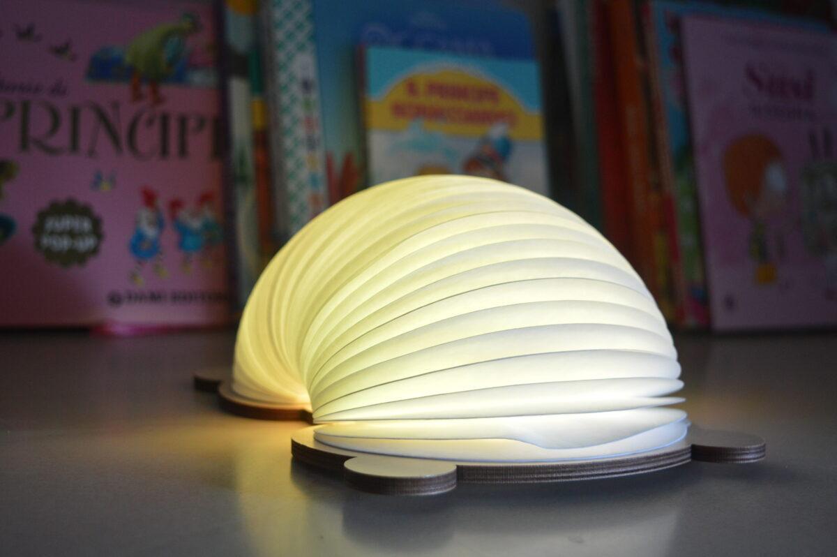 Oobook Lampada Libro personalizzabile con animali