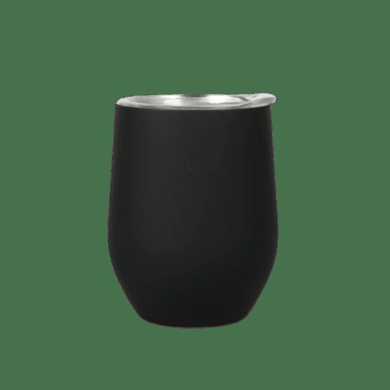 tazza in acciaio inox personalizzata nera