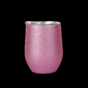 tazza in acciaio inox personalizzata rosa glitter