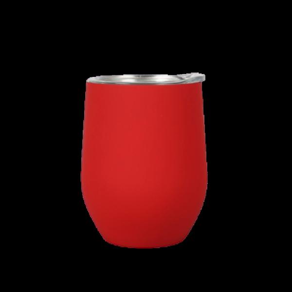 tazza in acciaio inox personalizzata rossa