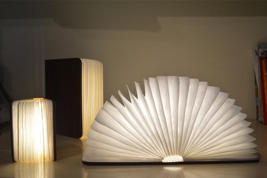 Oobook Lampada Libro personalizzabile
