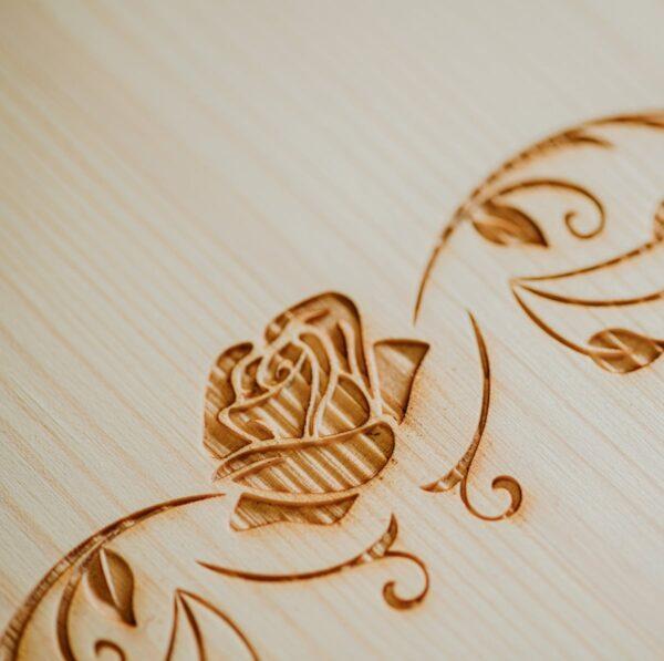 cassetta legno calice singolo incisione