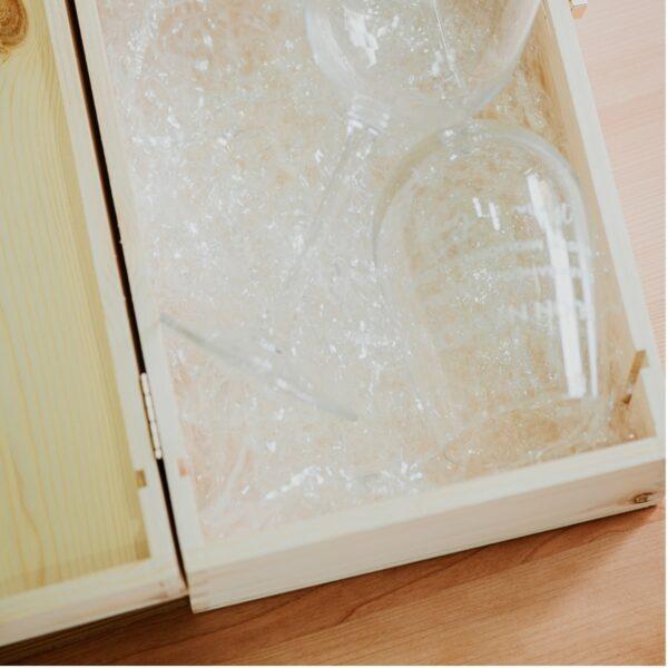 cassetta legno calici doppio aperto